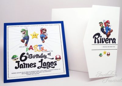 6th Birthday Invitation