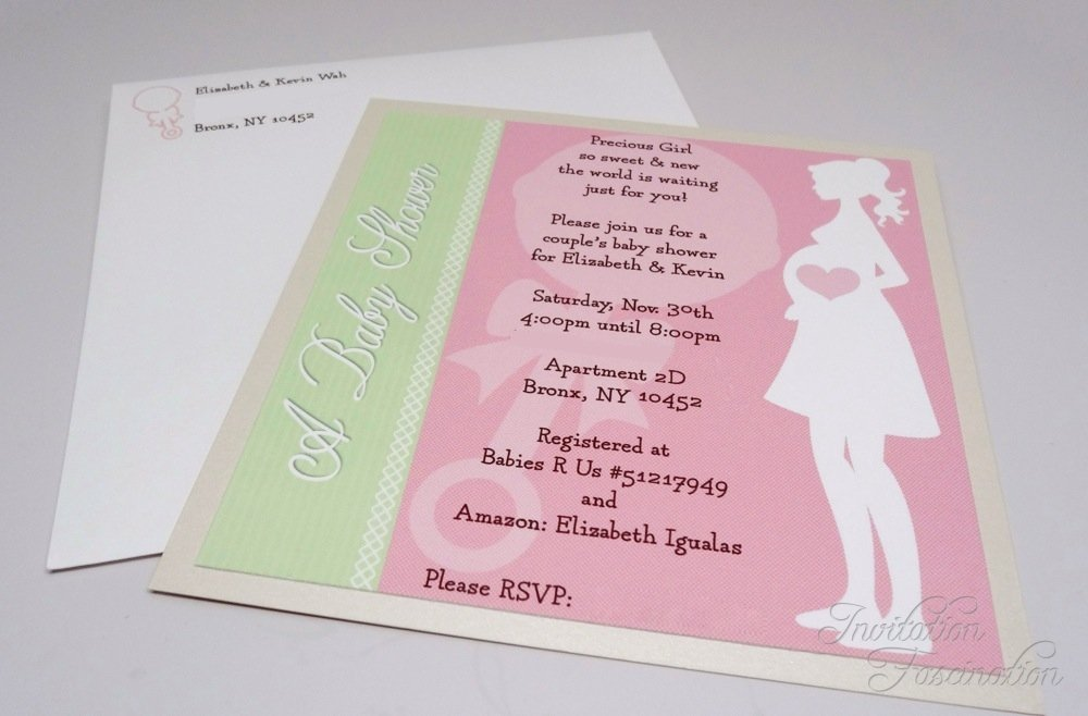 Baby Girl Shower Invitation | Invitation Fascination