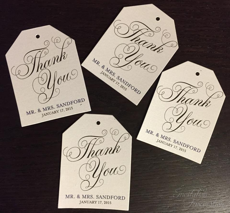 Wedding Favor Tags With Photo : Wedding Favor Tags Invitation Fascination