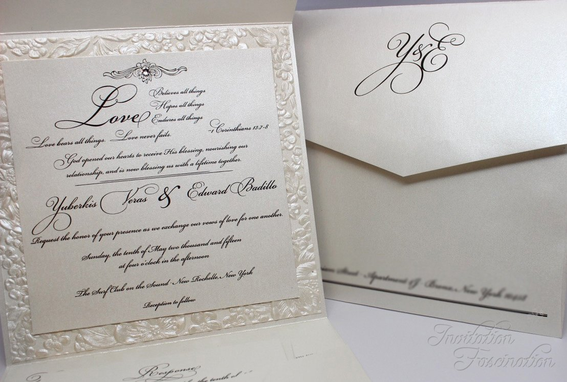 Elegant Floral Wedding Ensemble | Invitation Fascination