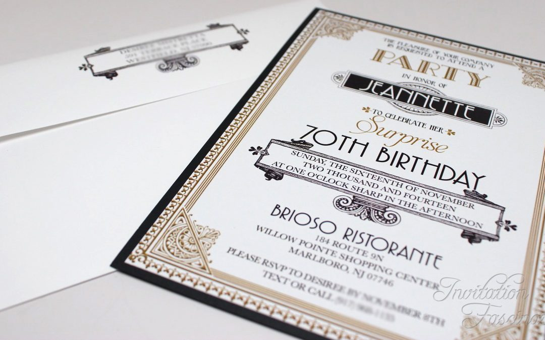Surprise 70th Birthday Invitation