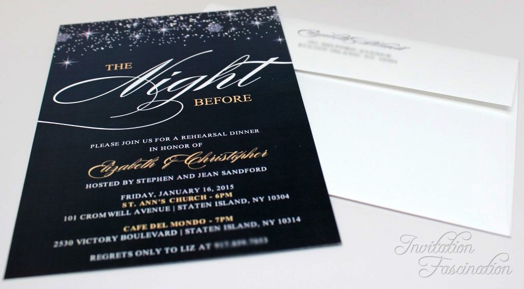 Rehearsal Dinner Invitation | Invitation Fascination