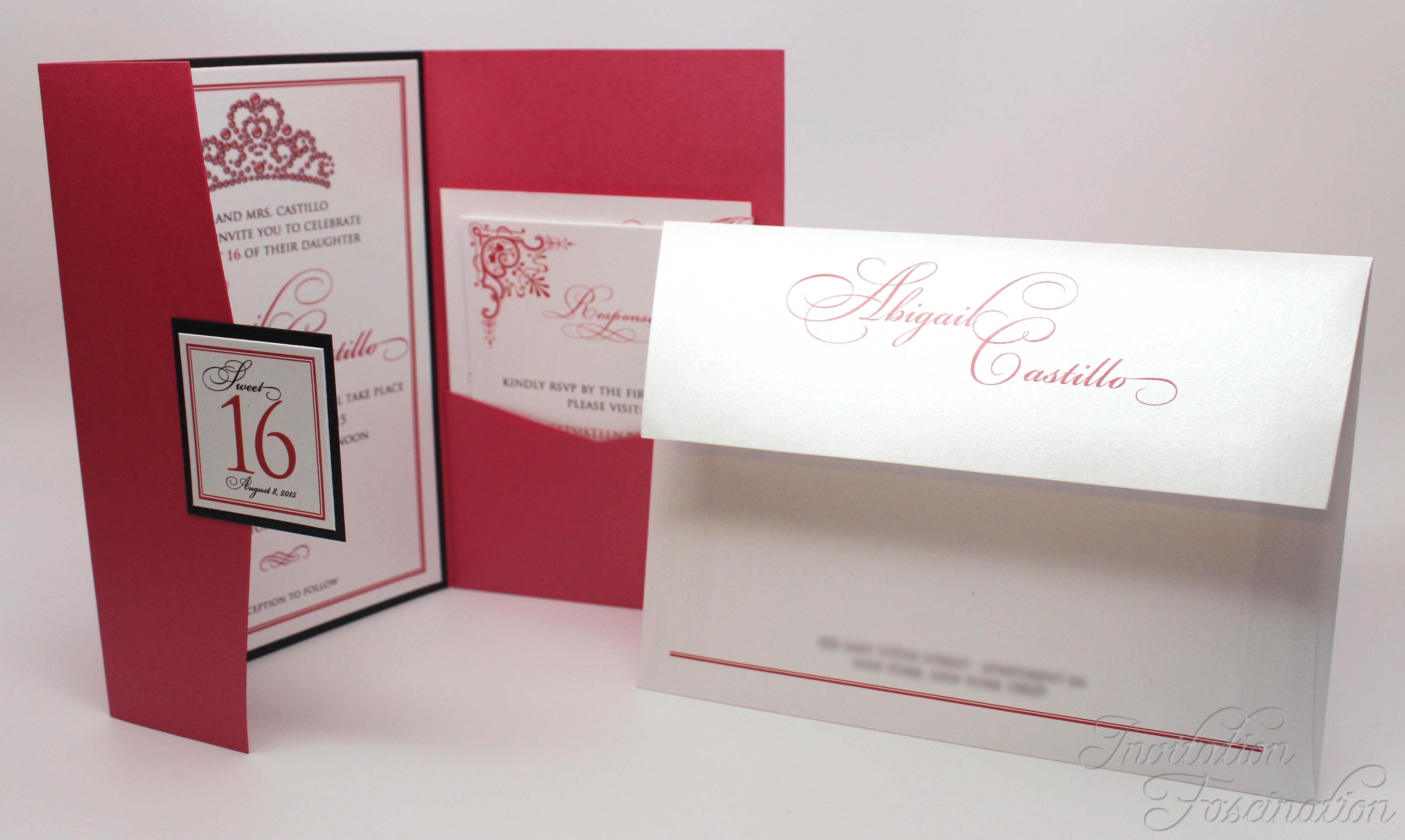 Elegant Pink Sweet 16 Invitations | Invitation Fascination