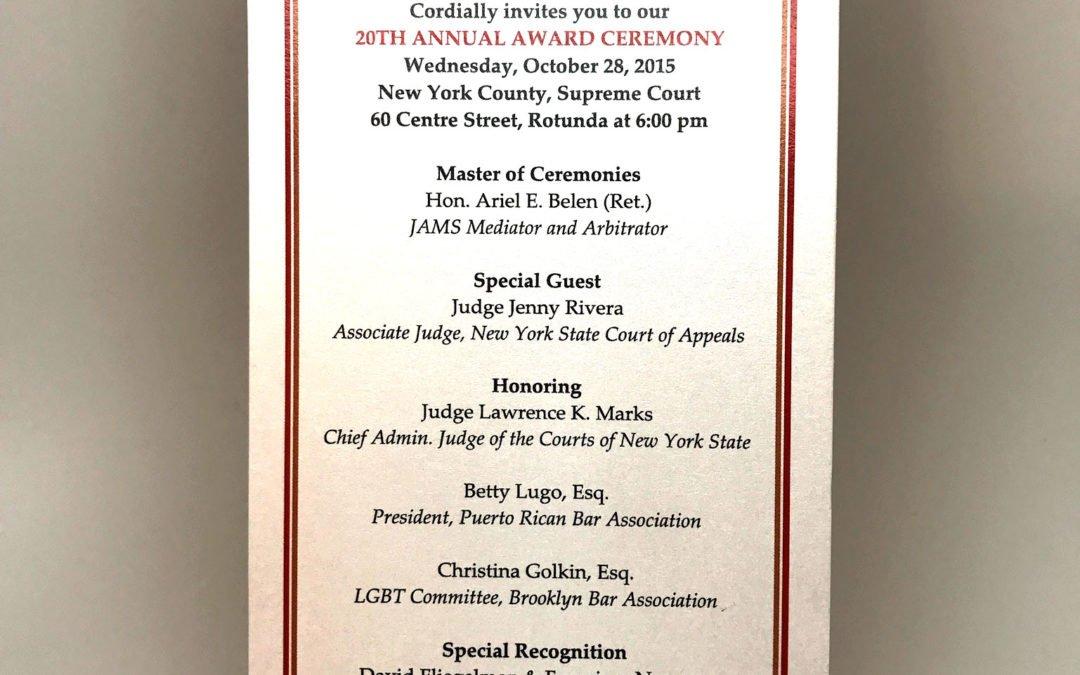 Awards Ceremony Invitation